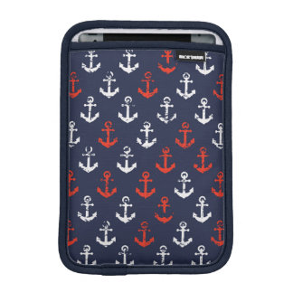 Red White And Blue Navy Pattern Sleeve For iPad Mini