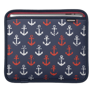 Red White And Blue Navy Pattern Sleeve For iPads