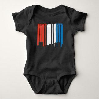 Red White And Blue Newport News Virginia Skyline Baby Bodysuit