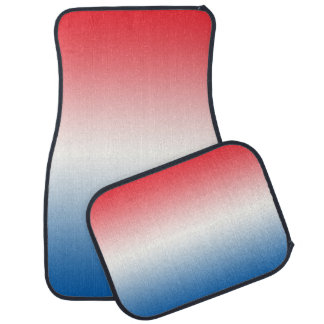 """Red White And Blue Ombre"" Car Mat"