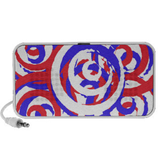 Red White and Blue OrigAudio Doodle 2.0 speaker