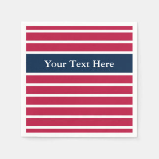 Red white and blue paper napkins