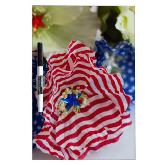 Red White and Blue Patriotic American Flag Bouquet Dry-Erase Whiteboards