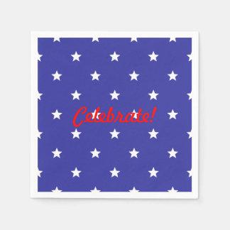 Red, White and Blue Patriotic Celebrate! Napkins Disposable Napkin