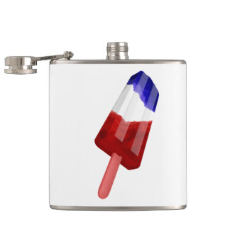 Red, White And Blue Patriotic Popsicle Flasks