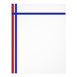 Red White and Blue Patriotism Letterhead Template