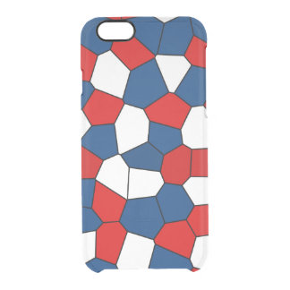 Red, White and Blue Pattern Clear iPhone 6/6S Case