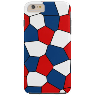Red, White and Blue Pattern Tough iPhone 6 Plus Case