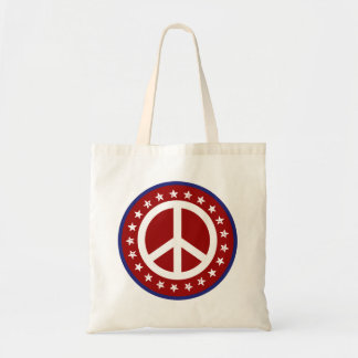 Red White and Blue Peace Sign and Stars