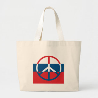 Red, White and Blue Peace Sign Bags