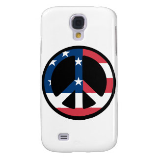 RED WHITE AND BLUE PEACE SIGN GALAXY S4 COVERS
