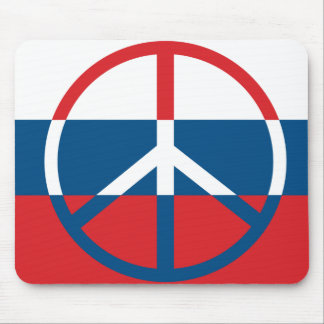 Red, White and Blue Peace Sign Mouse Pad