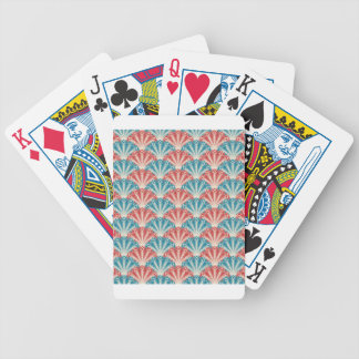 red white and blue peacock pattern bicycle playing cards