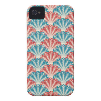 red white and blue peacock pattern Case-Mate iPhone 4 cases