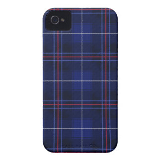Red, White and Blue Plaid Tartan Iphone 4 Case
