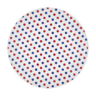 Red, White and Blue Polka Dot Pattern Cutting Boards
