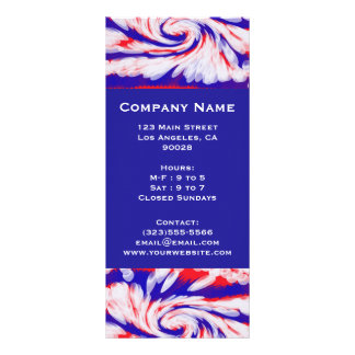red white and blue rack card design