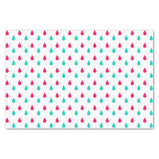 Red, White, and Blue Raindrops Design Tissue Paper