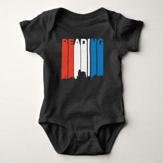 Red White And Blue Reading Pennsylvania Skyline Baby Bodysuit