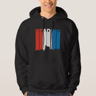 Red White And Blue Reading Pennsylvania Skyline Hoodie