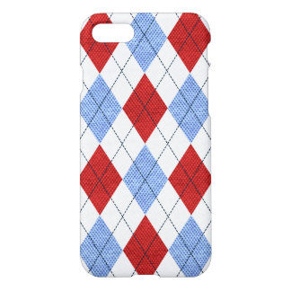 Red, White and Blue Retro Argyle Sock iPhone 7 Case