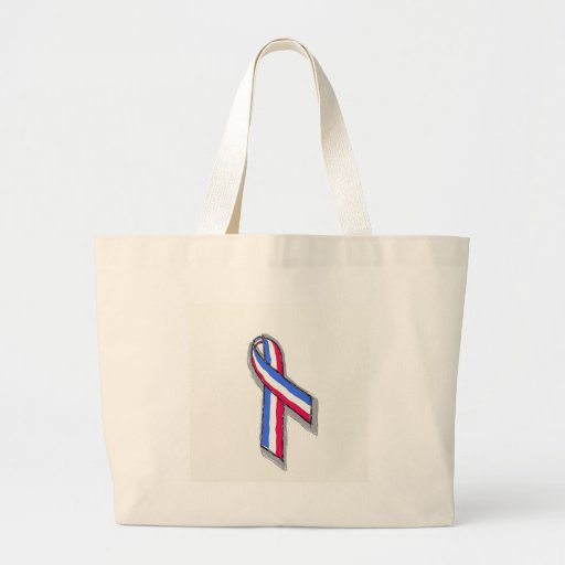 Red, White and Blue Ribbon Canvas Bags