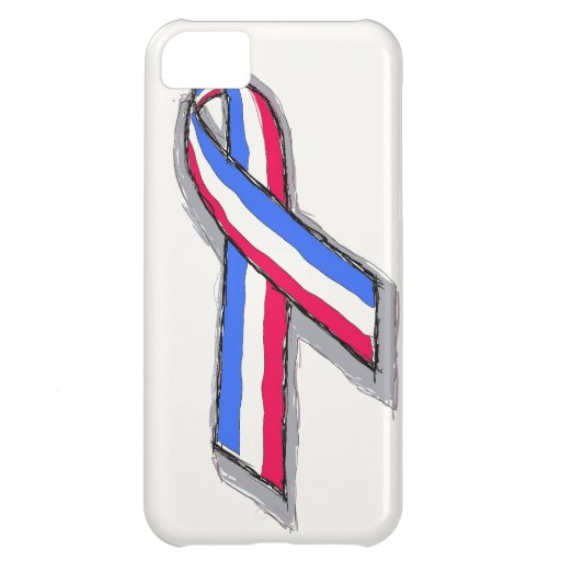 Red White and Blue Ribbon. iPhone 5C Covers