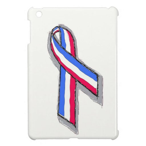 Red White and Blue Ribbon. iPad Mini Cover