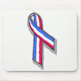 Red White and Blue Ribbon. Mouse Pads