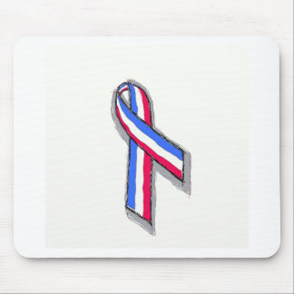 Red, White and Blue Ribbon Mousepads