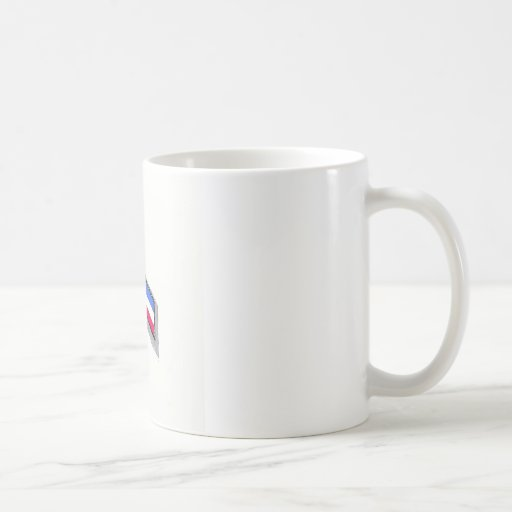 Red, White and Blue Ribbon Coffee Mugs