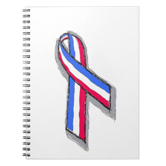 Red White and Blue Ribbon Spiral Notebooks