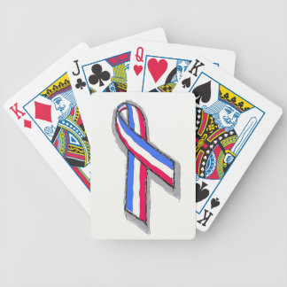 Red, White and Blue Ribbon Card Deck