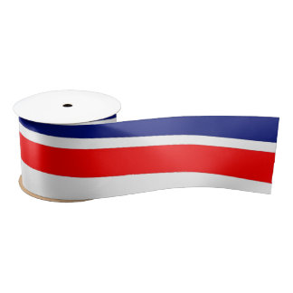 Red, White and Blue Ribbons Satin Ribbon