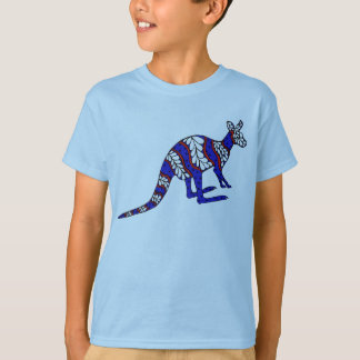 Red White and Blue Roo T-Shirt