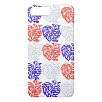 Red White and Blue Rooster iPhone 7 Plus Case
