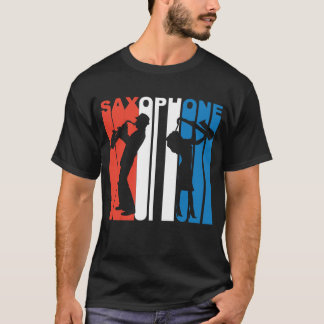 Red White And Blue Saxophone T-Shirt