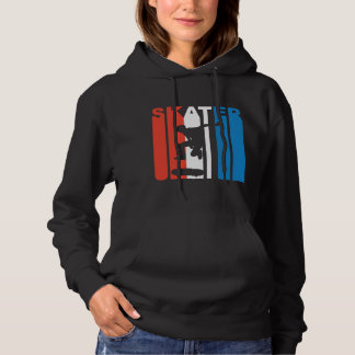 Red White And Blue Skater Skateboarding Hoodie