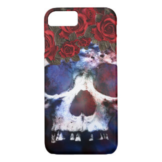 Red, White, and Blue Skull Case-Mate iPhone Case