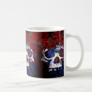 Red, White, and Blue Skull Coffee Mug