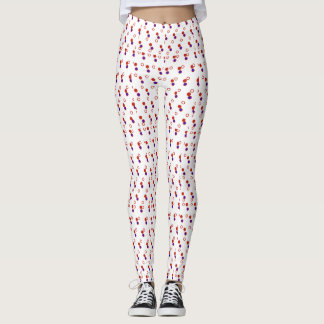 Red White and Blue Small Spotted Leggings