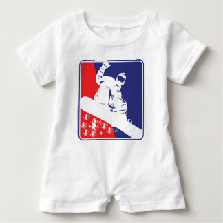 Red-White-and-Blue-Snow-Boa Baby Romper