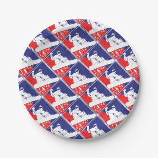 Red-White-and-Blue-Snow-Boa Paper Plate