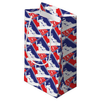 Red-White-and-Blue-Snow-Boa Small Gift Bag