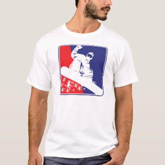 Red-White-and-Blue-Snow-Boa T-Shirt