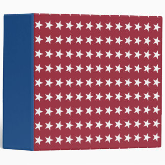 Red White and Blue Star Binder