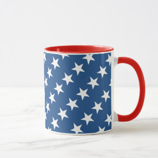 Red White and Blue Star Mug