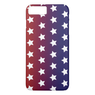 Red, White and Blue Star Pattern iPhone 7 Plus Case