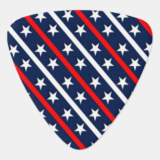 Red white and blue stars and stripes background guitar pick