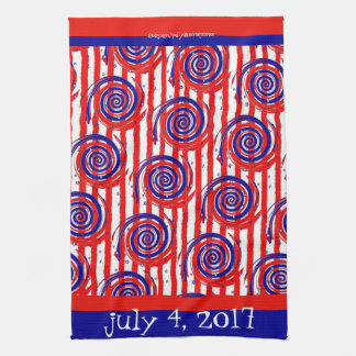 Red White and Blue Stars and Stripes Towel